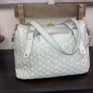 Hobo International Cream Quilted Shoulder Handbag